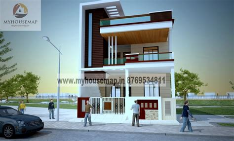 Contemporary House Floor Plans by Front Elevation Design Modern Duplex Front Elevation