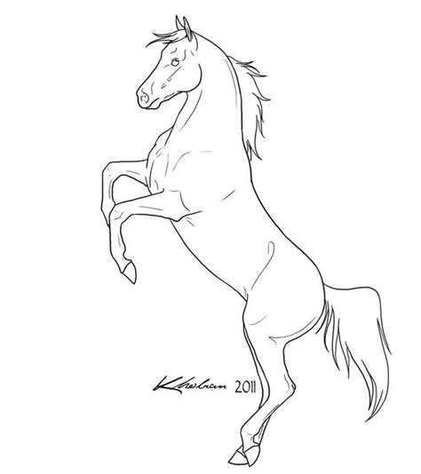 coloring pages of horses rearing rearing horse lineart by kholran beautiful lines