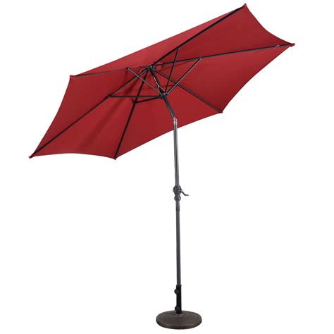 9ft patio umbrella patio market steel tilt w crank