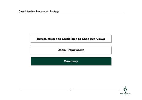 case interview case interview preparation package