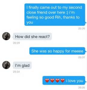 rihanna helps fan come out through direct