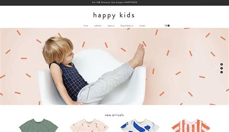Kids Babies Website Templates Online Store Wix Apparel Website Templates