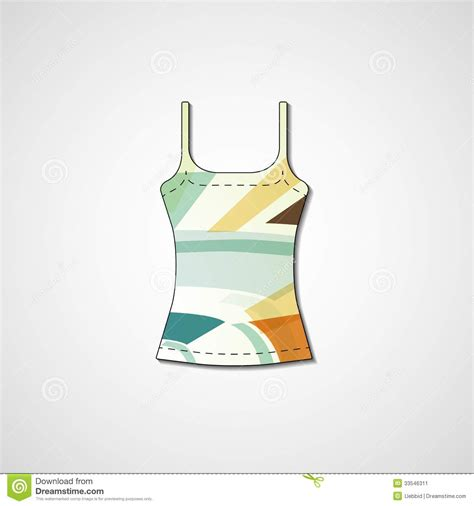 singlet design template abstract illustration on singlet stock image image 33546311