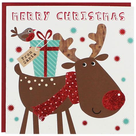 reindeer christmas cards pack of 8 christmas cards at