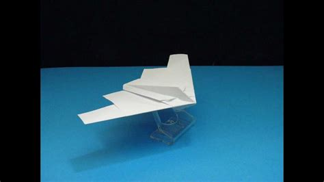 How To Make A Paper B - flyable origami b 2 stealth bomber version 1