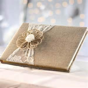 rustic wedding guest books rustic lace and burlap guest book guest books and pens