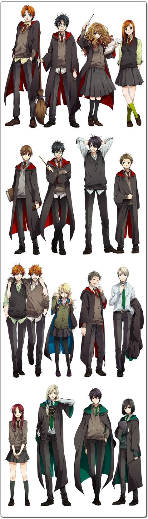 D Anime List by The Harry Potter Cast Reimagined As Anime Characters