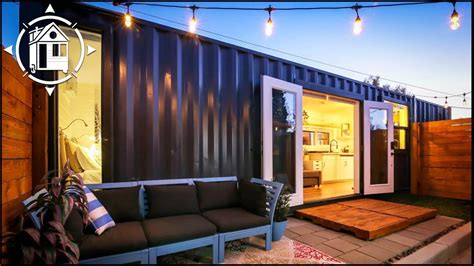 shipping container  fabulous backyard tiny home