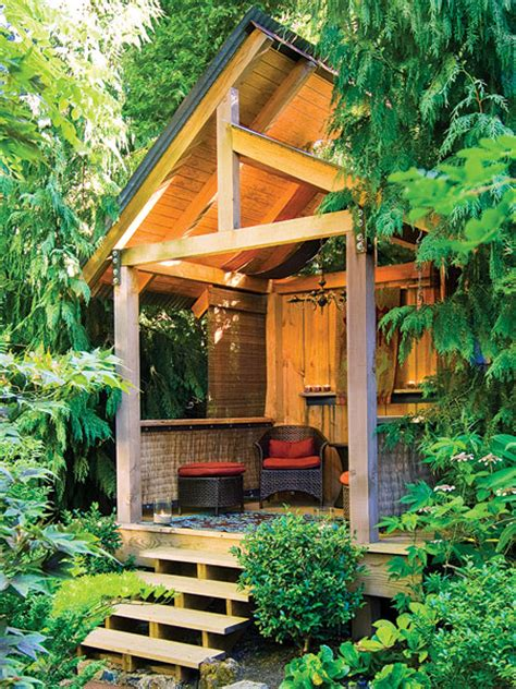 backyard bungalows this small backyard bungalow is the perfect nook to spend