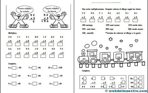 imagenes con operaciones matematicas para colorear operaciones b 225 sicas archives web del maestro