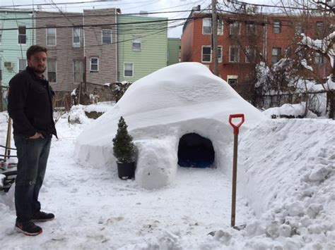 how to make an igloo in your backyard brooklyn man builds igloo in backyard and lists it on