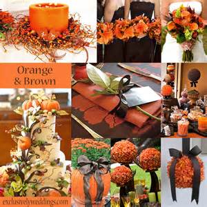 autumn themed wedding decorations trending orange wedding color ideas for fall 2014