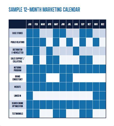 8 Sle Marketing Calendars Sle Templates Brand Calendar Template