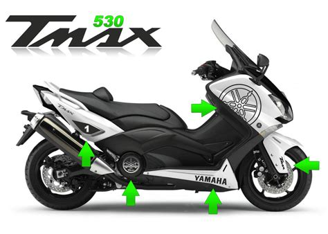 Sticker Tuning Para Motos by Kit Adesivi Scooter Yamaha Tmax 530 T Max T Max Stickers