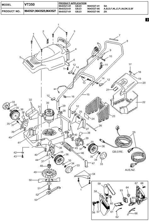 turbo 350 diagram flymo venturer turbo 350 spares diagram product code