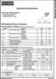 datasheet transistor npn bc548 bc548 datasheet npn general purpose lifier
