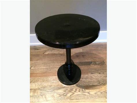 Small Black Pedestal Table small black metal pedestal table oak bay