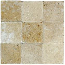 noce tumbled travertine mosaic tiles 4x4 natural stone