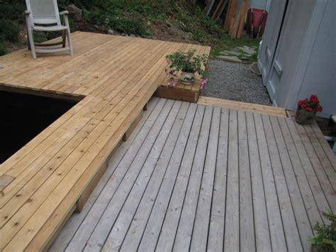 pond deck staining