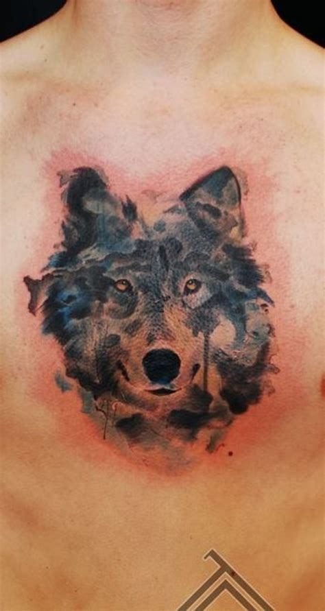 wolf chest tattoo wolf chest ideas yo