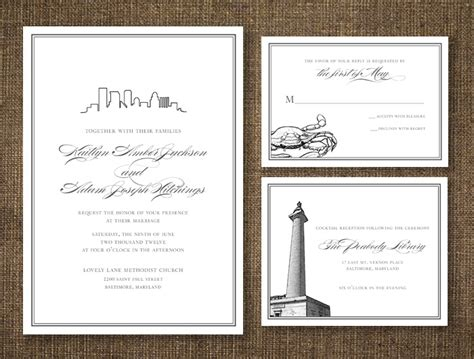Wedding Invitations Baltimore by 17 Best Images About Baltimore Weddings Engagements On
