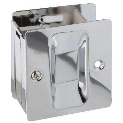 Home Depot Pocket Door Hardware by National Hardware Chrome Pocket Door Pull V1950 Pockt Door