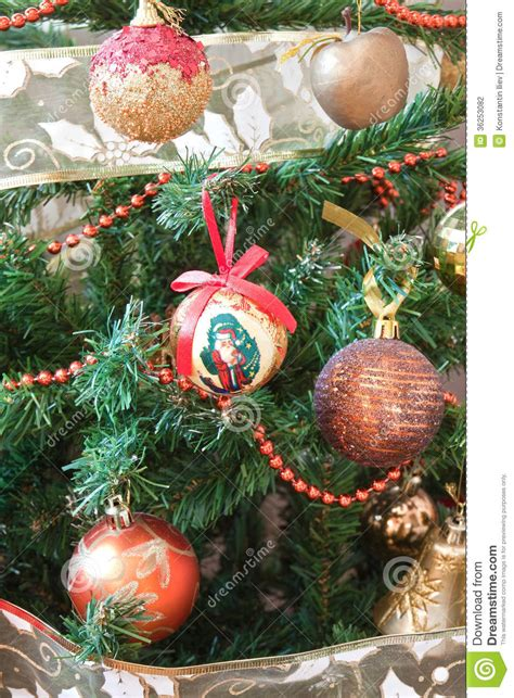 decorate the christmas tree stock photography image