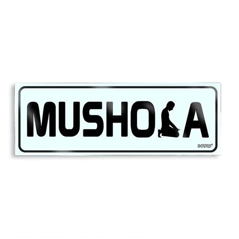 acrylic sign mushola lotussan stationery