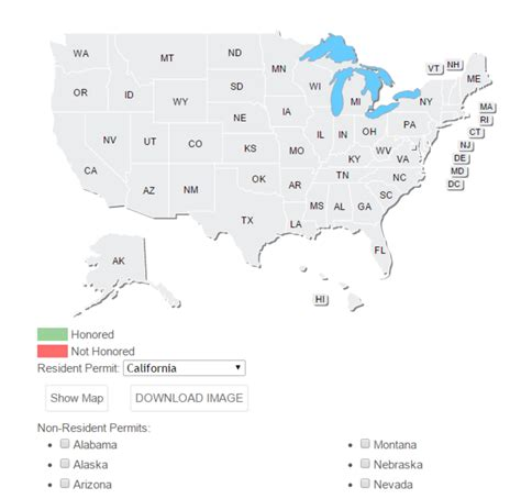 concealed carry reciprocity map dynamic ccw permit reciprocity map generator colorado concealed carry