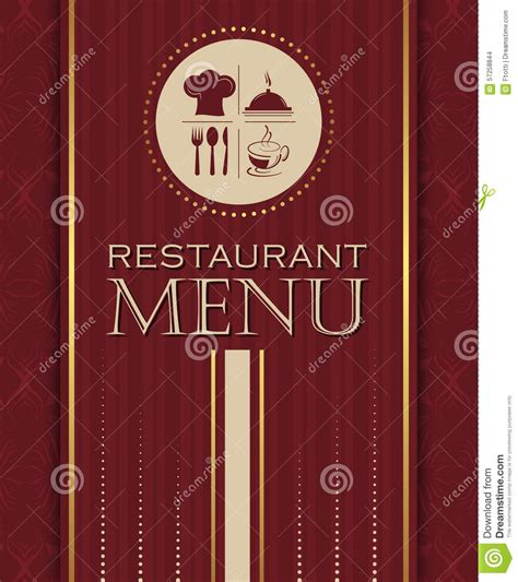 restaurant cover layout restaurant menu design cover template in retro style 04