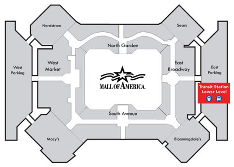 layout of the mall of america mall of america station metro transit