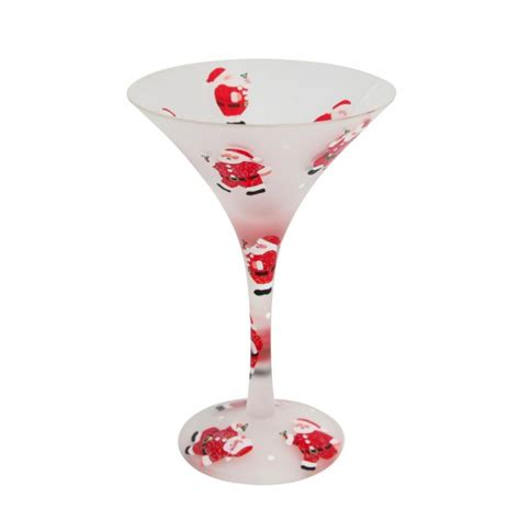 christmas martini glass santa s party christmas cocktail glass
