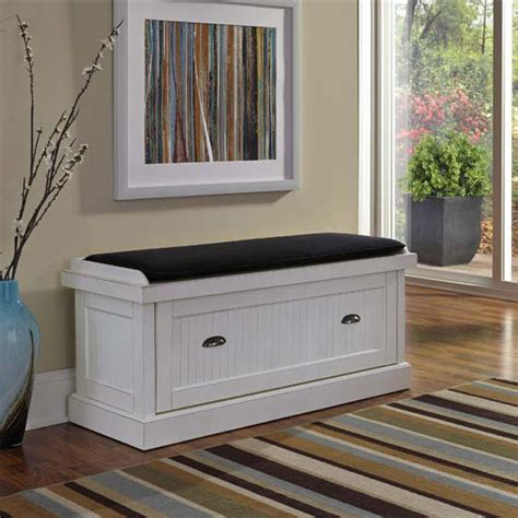 home styles nantucket upholstered bench  enclosed