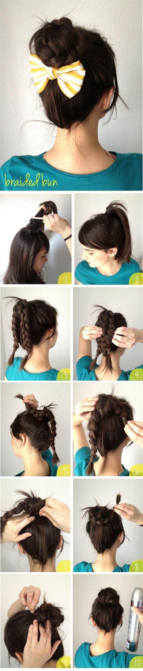 how to do nice hairstyles step by step braid bun hair tutorial diy hairstyle haircuts