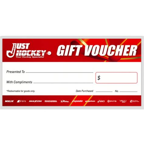25 Just For You by 25 Just Hockey Gift Voucher Hockey Gift Voucher Just Hockey