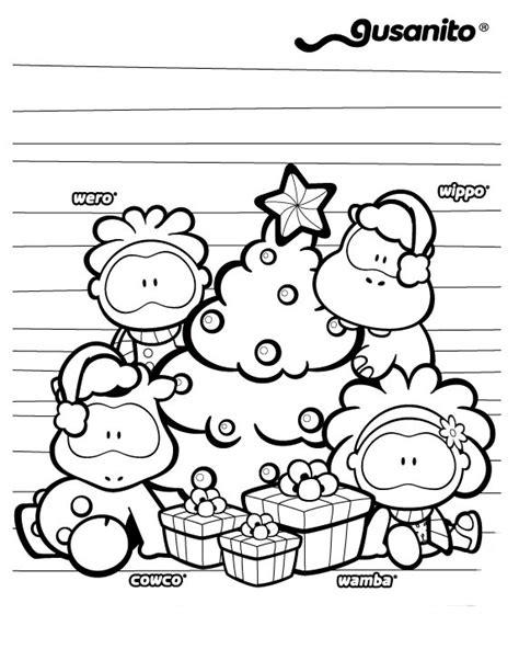 imagenes feliz navidad gusanito gusanito navidad para colorear e imprimir