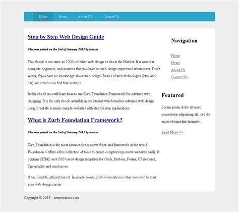 foundation css tutorial video sidebar navigation step by step tutorial