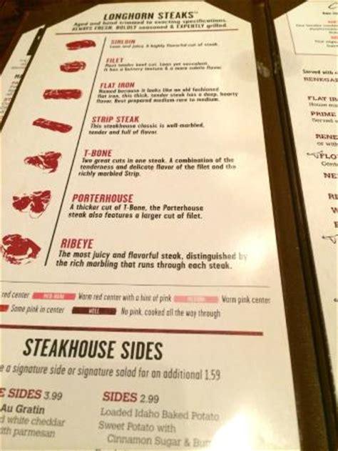 longhorn steak house menu menu picture of longhorn steakhouse homestead