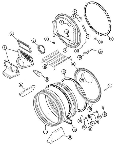 maytag dryer parts diagram size