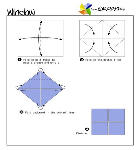 Window Origami - furnitures origami window paper origami guide