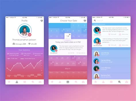layout social network social network design ux for communication tubik studio