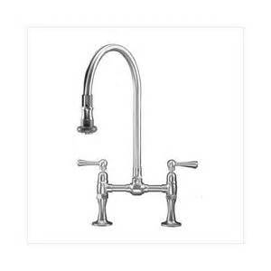bridge kitchen faucet with pull spray and metal wheel