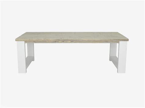 teak tafel dikke poten steigerhouten tafel met dikke planken millau tafels met