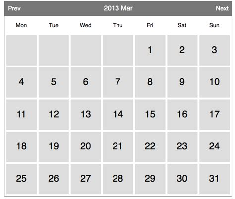 Php Calendar How To Build A Web Calendar In Php