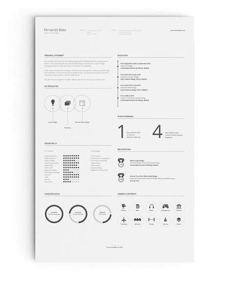 Resume Template Fernando Baez Zip by 40 Creative Resume Templates You Ll Want To In 2018