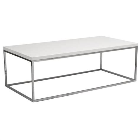 White Lacquer Table by Eurostyle Teresa Rectangular White Lacquer Coffee Table Ebay