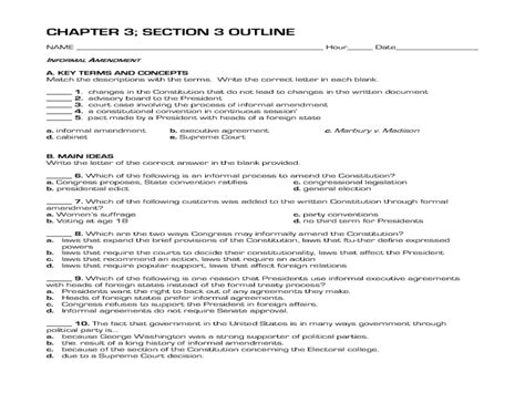 Analysis Of The Constitution Worksheet Answers by Amending The Constitution Worksheet Worksheets