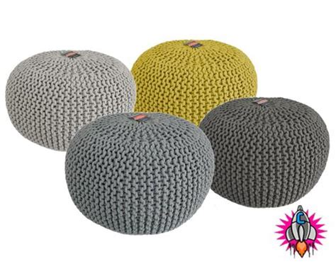 knitted pouffe uk new chunky knitted sphere moroccan style footstool