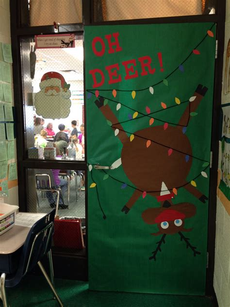 oh deer door decoration classroom school door decoration decor reindeer oh deer silly winter
