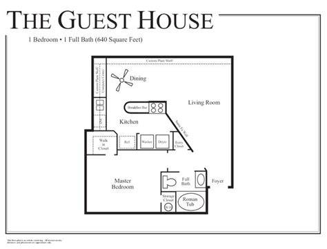 guest house floor plan studio apartment